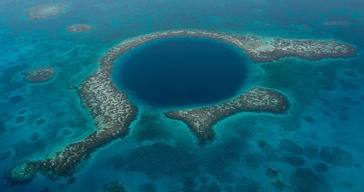 The famous Blue Hole is always a popular photo opportunity on Belize vacations