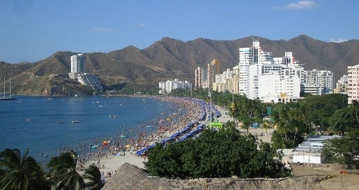 Stroll the beaches of Santa Marta on your trip to Colombia