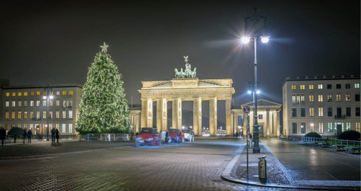 The 18th-century neoclassical Brandenburg Gate is a focal point of Berlin
