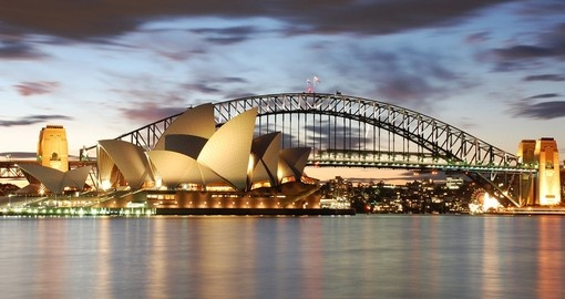 Australia's Sydney Opera House and Harbour Bridge is a must visit on an Australia vacation.