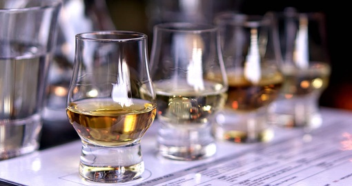 A sample of whisky is a must on any Scotland vacation