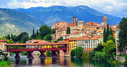 Famous for its namesake spirit, Bassano del Grappa sits on the banks of the river Brenta