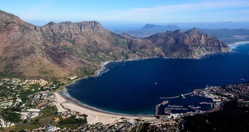 An aerial view of the spectacular Cape Peninsula