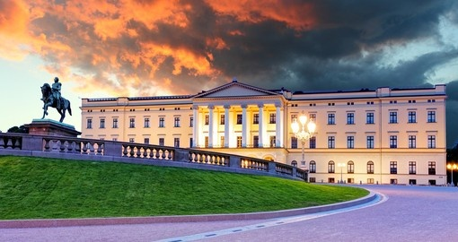 The Royal Palace in Oslo - always a popular inclusion on Norway tours.