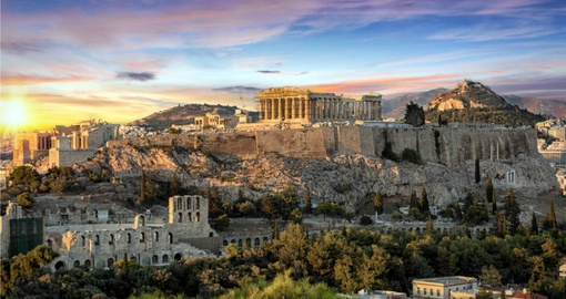 The Parthenon Temple at the Acropolis of Athens