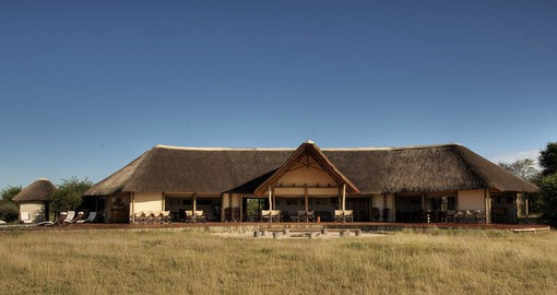 The minimalistic design of Nxai Pan is in keeping with the surrounding white salt pans