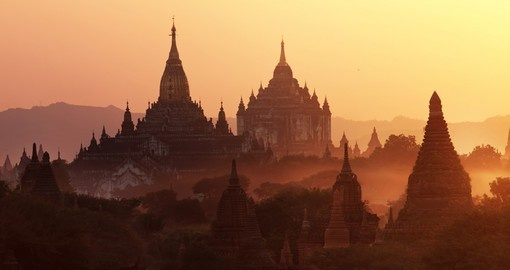 The ancient city of Bagan with over 2200 temples and pagodas
