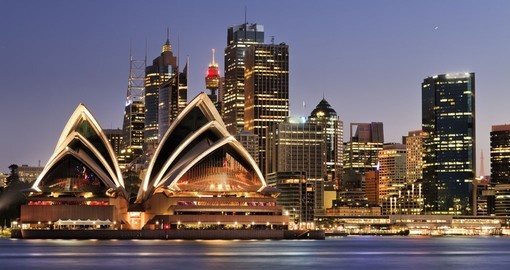 The world famous Sydney Opera House is a must for all Australia tours.