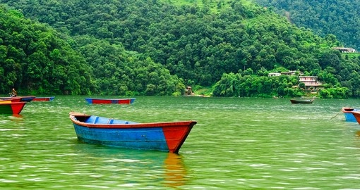Float along Lake Pokahara which is surrounded on all sides by lush greenery on one of your Nepal Tours