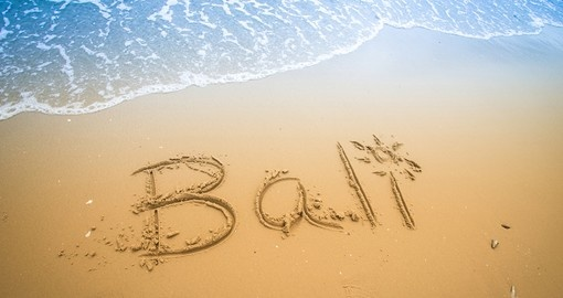 Why not write your name on a sandy tropical beach in Bali