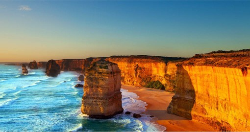 Visit the ancient rock formations of the Twelve Apostles during your day on the Great Ocean Road