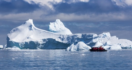 You will explore the natural landscape of the Antarctic Peninsula through either ship or small boat on your Trip to Antarctica