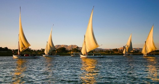 Felucca's on the Nile River are always a popular inclusion when you travel to Egypt