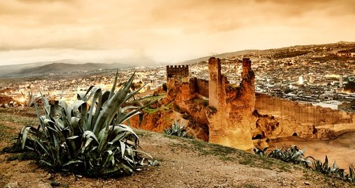 Experience Sunset over Fez during your next Morocco vacations.