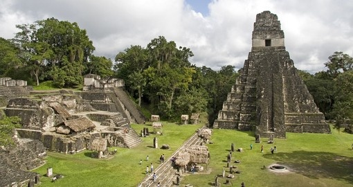 The Temple of the Jaguar Priest, provides a great photo opportunity during your Guatemala Vacation