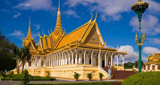 The Throne Hall of the Royal Palace is one of Phnom Penh's most splendid buildings