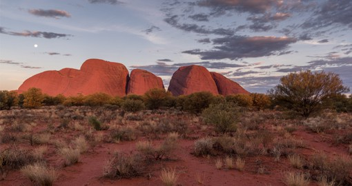 Meaning 'many heads', Kata Tjuta is sacred to the local Aboriginal Anangu people