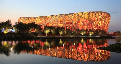 Enjoy the Beijing National Stadium on your next China Tours.
