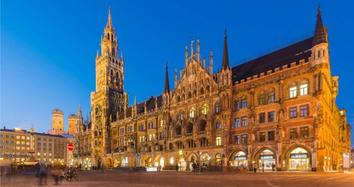 Vibrant Marienplatz and Munich City Hall is visit during your trip to Germany