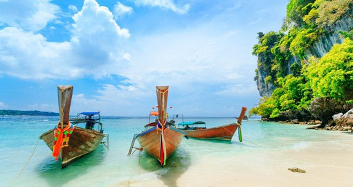 Phuket, Thailand's largest island is know for it's palm fringe white sand beaches