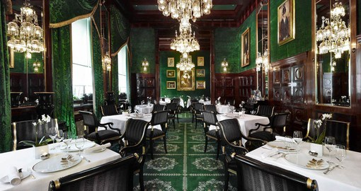 Experience typical Viennese coffeehouse atmosphere at Café Sacher, complete with a slice of Original Sacher-Torte