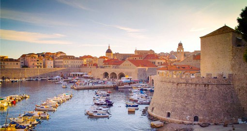 Enjoy the lovely harbour of Dubrovnik during the final stop on your Croatia tours