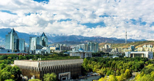 Almaty, set against the Zailiysky Alatau mountains, offers Cental Asia's best selection of shops, markets and restaurants