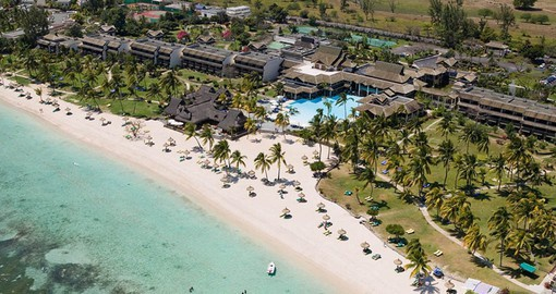 On the sheltered west coast of a tropical paradise, Sofitel Mauritius offers views of tropical greenery or the endless sea
