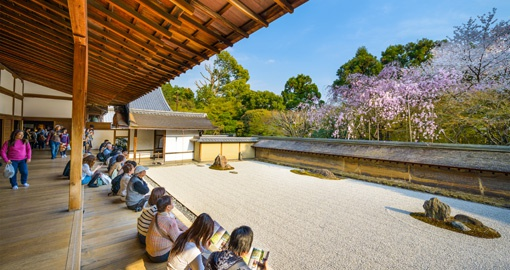Ryoan-Ji is one of Japans most famous rock gardens
