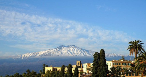 Mount Etna is the highest and most active volcano in Europe. Towering above the city of Catania