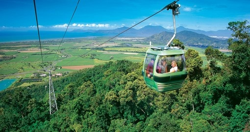 Soar over the tree line as you take a ride on the Skyrail during your next Australia vacations.