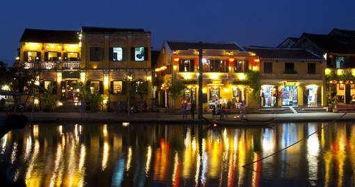 The ancient Asian town of Hoi An