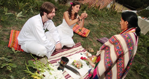 Renew your vows in an Traditional Andean ceremony