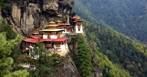Tiger's Nest Monastery is a popular inclusion on Bhutan tours.