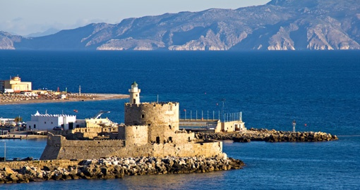 Old Castle & Lighthouse, Rhodes island, Greece