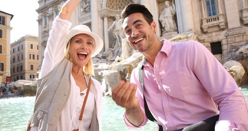 Make a wish at Trevi Fountain - a popular thing to do on all Italy vacations.