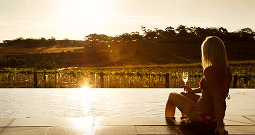 Sunset Champage at The Louise, Barossa Valley