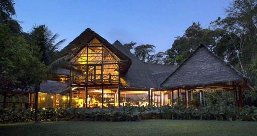 Inkaterra Reserva Amazonica is adjacent to the lush Tambopata National Reserve