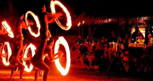Island night show are included at many Cook Islands resorts