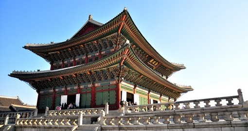 Gyeongbokgung Palace is always a popular inclusion when booking Korean vacations.