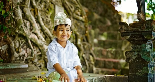 Balinese boy in traditional clothing