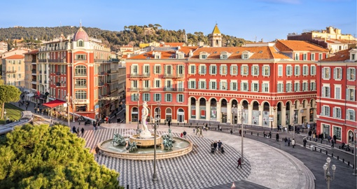Place Massena square in Nice