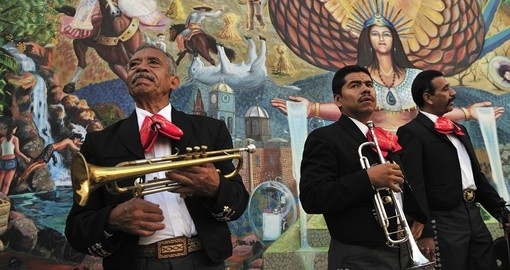 Mariachi music in Mexico City - always a great time to relax and listen while on Central America tours.