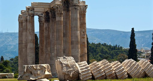 Completed by Emperor Hadrian, the Temple of Olympian Zeus was one of the largest ever built