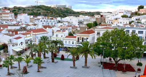Albufeira's old town is a beautiful white city with cobbled streets, with over 100 family focused restaurants