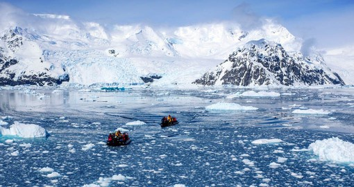 Make use of Ocean Endeavour's fleet of Zodiac's on your Antarctica Cruise