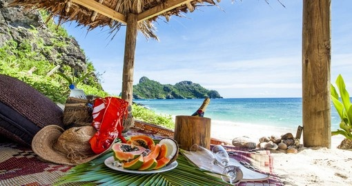 Add a private beach picnic on you trip to Fiji