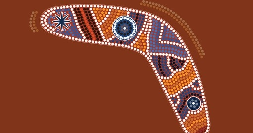 You will be able to see traditional aboriginal dot paintings on your next Australia Tours.