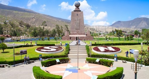 The Mitad del Mundo in Quito provides a great photo opportunity on all Ecuador tours