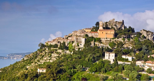 The charming medieval hilltop village of Eze